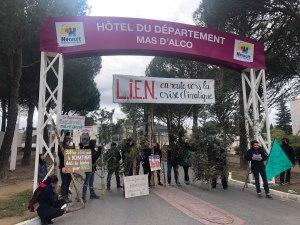 Hérault Mobilisation contre le LIEN ©CDS