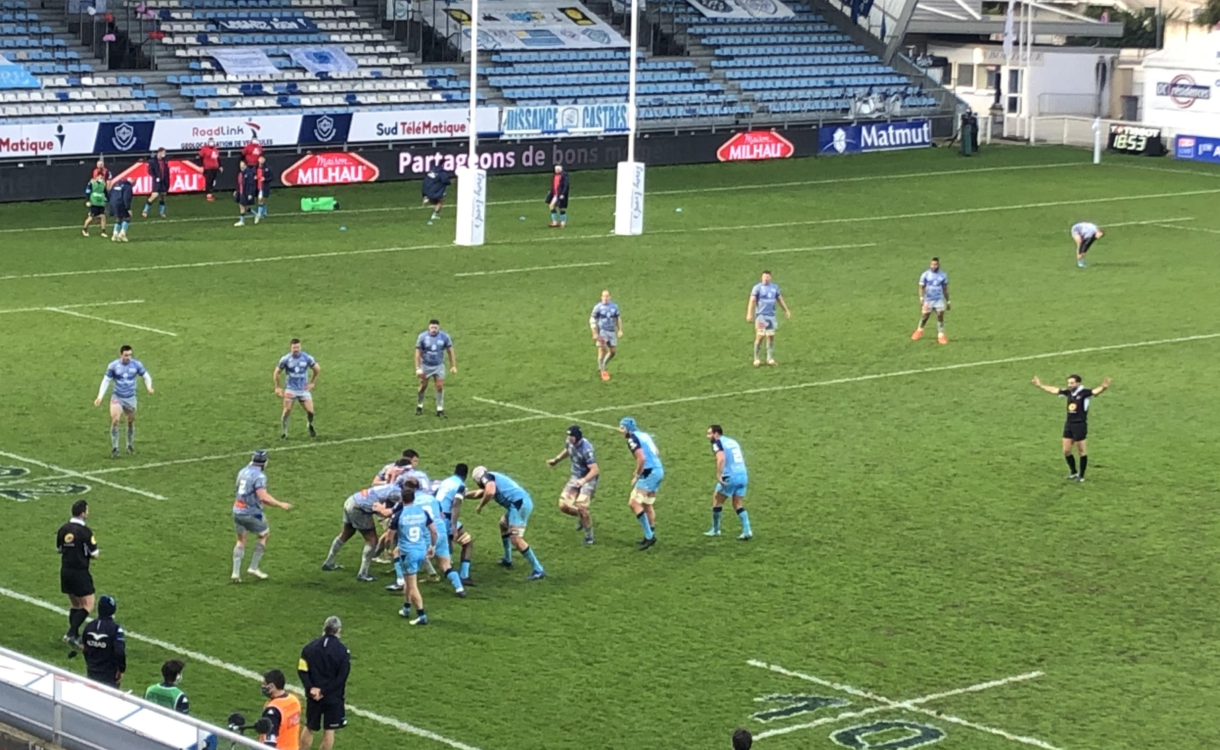 Rugby, Castres VS Montpellier - février 2021 ©CDS