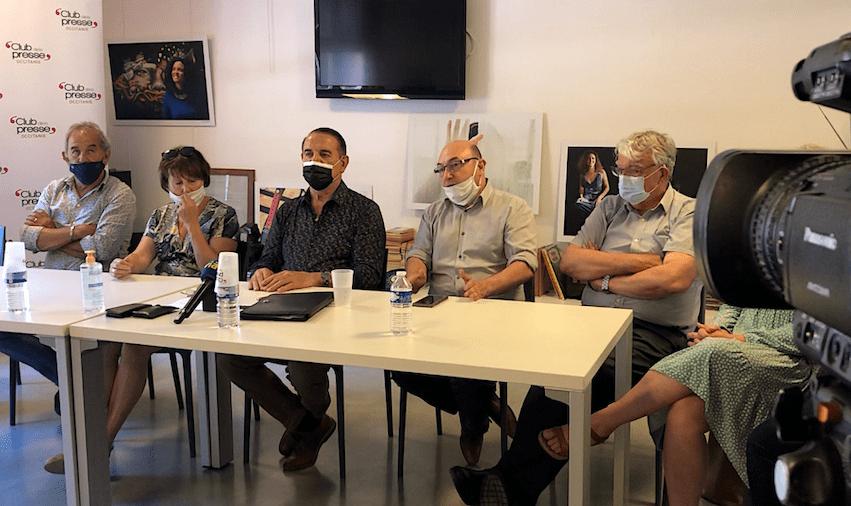 Conférence de presse Départementales 2021 second tour Kleber Mesquida (©JPV)