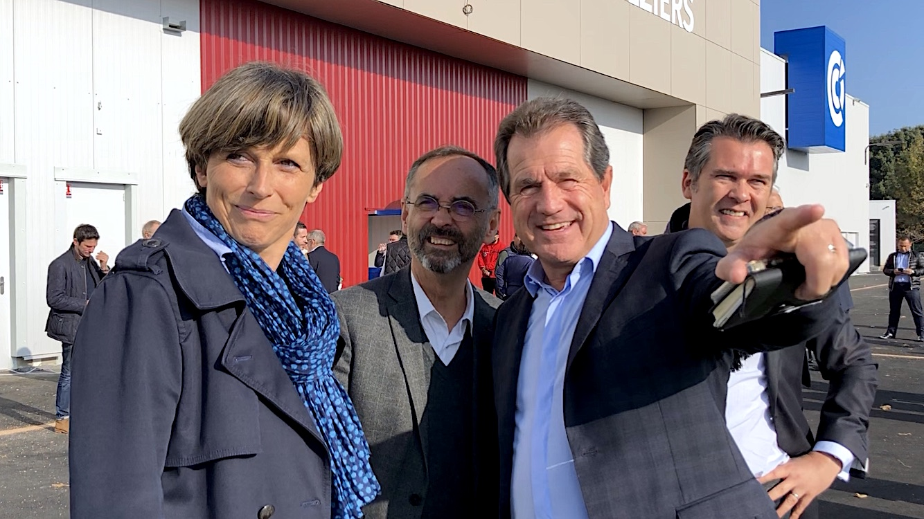 Inauguration Parc des Expositions à Béziers, Emmanuelle Ménard, Robert Ménard, André Deljarry (©JPV)