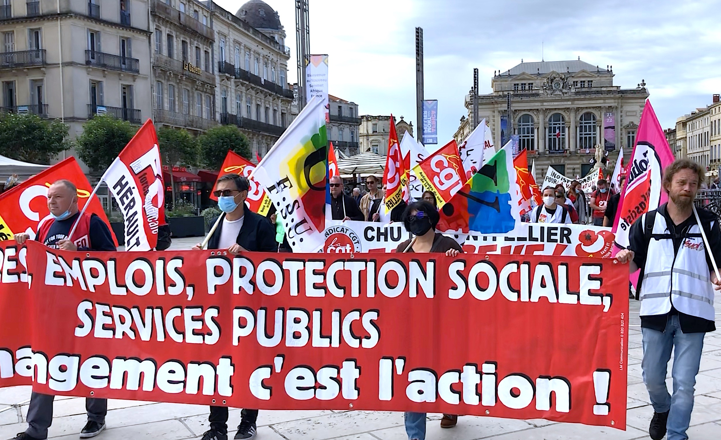 Mobilisation du 5 octobre 2021 Montpellier (©JPV)