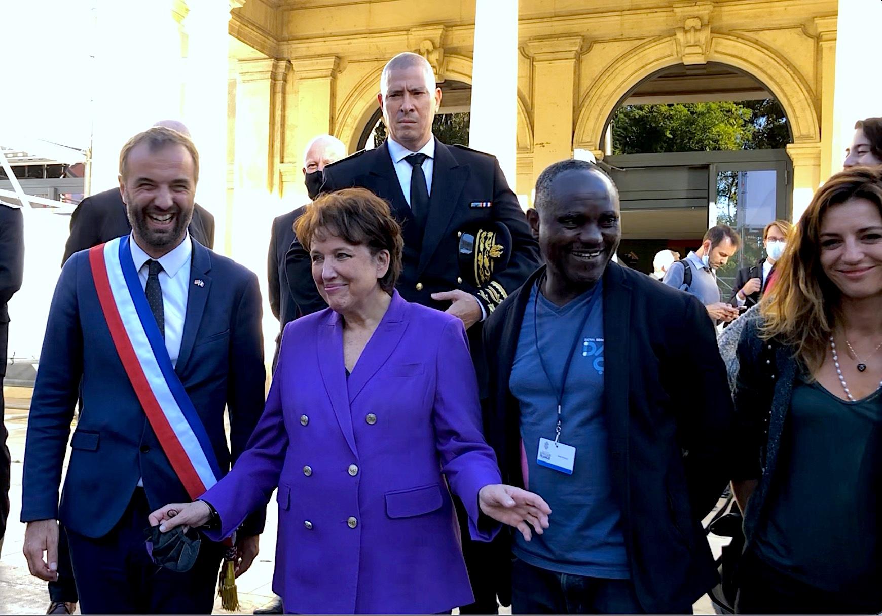 Roselyne Bachelot en visite à Montpellier - Sommet Afrique France - Octobre 2021 (©JPV)