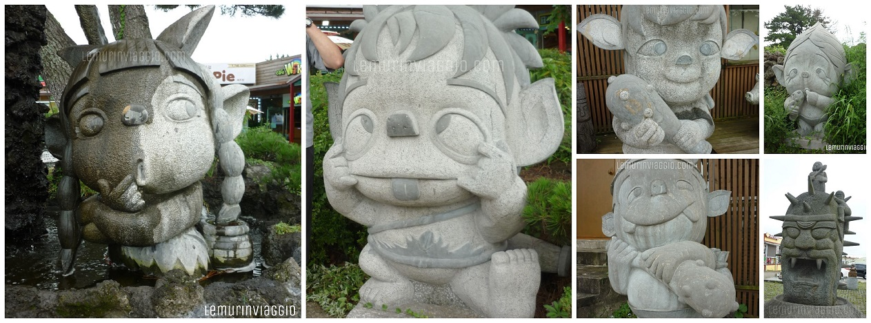 Statuette coreane nei pressi della mysterious road