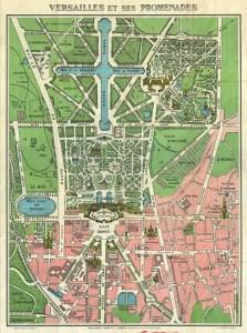 Mappa di Versailles e del Petit Trianon