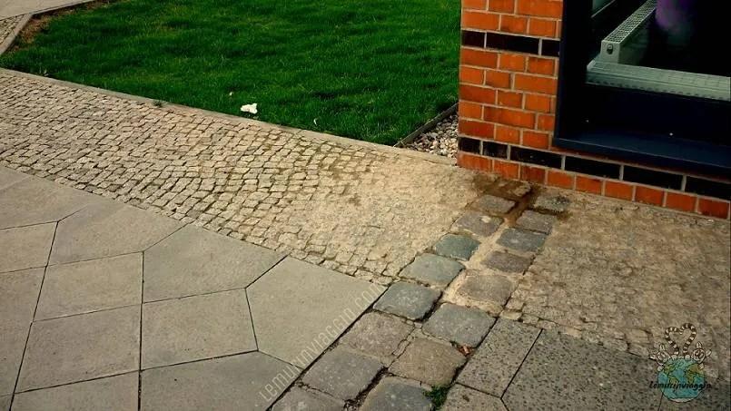 Bernauer Straße dove passava il muro di Berlino
