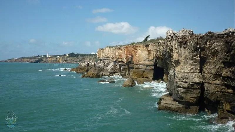 Cascais e la scogliera nei pressi della boca do inferno in Portogallo
