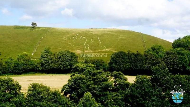 Il gigante di Cerne Abbas nel Dorset Inghilterra