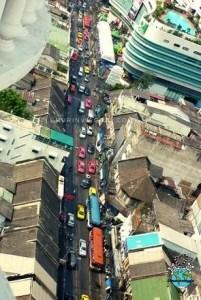Taxi colorati di Bangkok in Thailandia