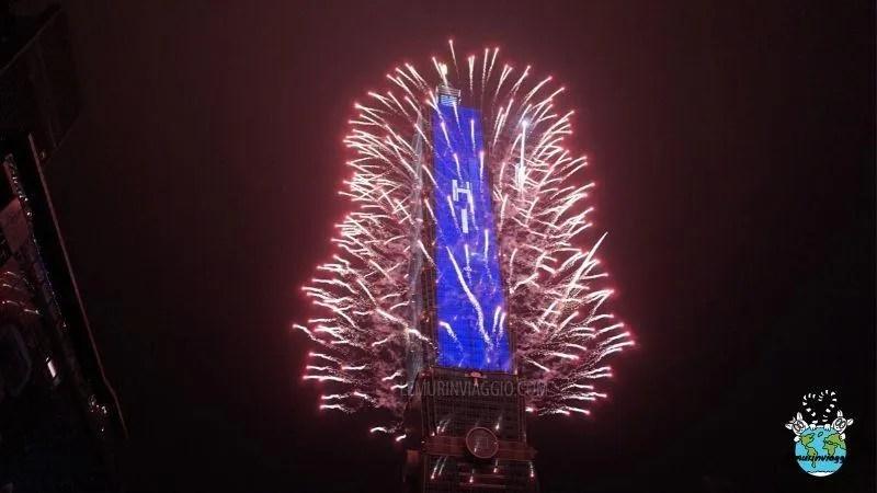 fuochi d'artificio al taipei 101 Taiwan