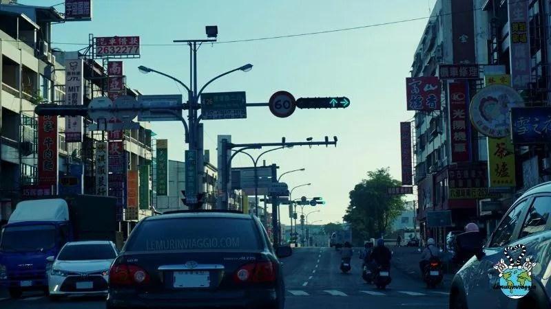 Guidare nel traffico cittadino di Taiwan