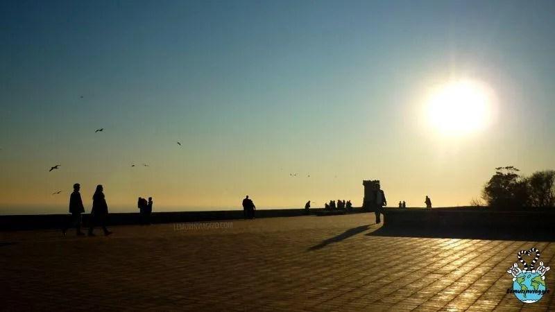 terrazza panoramica a Barcellona in Spagna