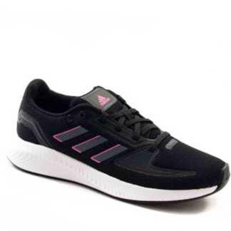 tenis esportivo adidas preto-com-rosa