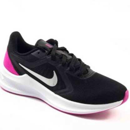 tenis esportivo nike preto e rosa