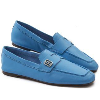 mocassim azul schutz feminino