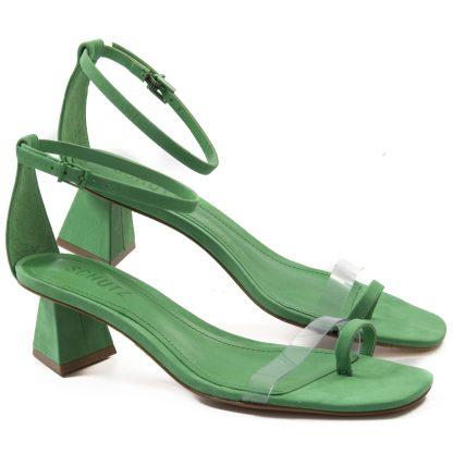 sandalia verde schutz feminina