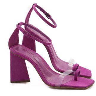 sandalia schutz pink de salto feminina