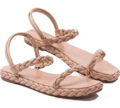 sandlia rasteira le mulher pele
