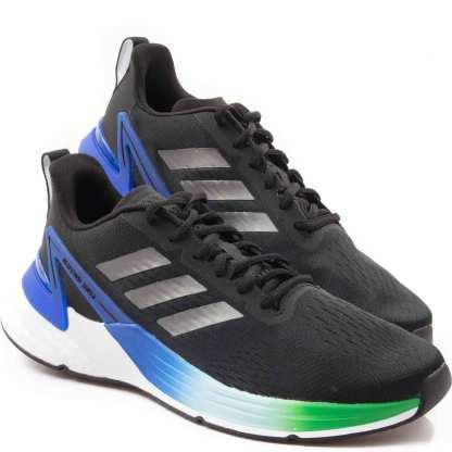 tenis adidas masculino response suoer boots preto e azul