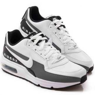 tenis air max masculino branco e cinza