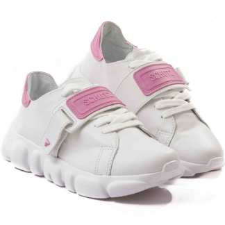 tenis casual schutz branco com rosa feminino