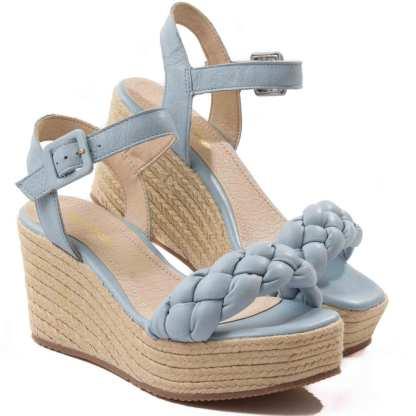 sandalia plataforma azul bottero feminina