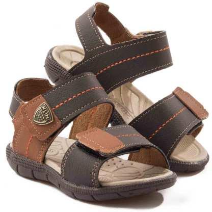 sandalia infantil marrom menino