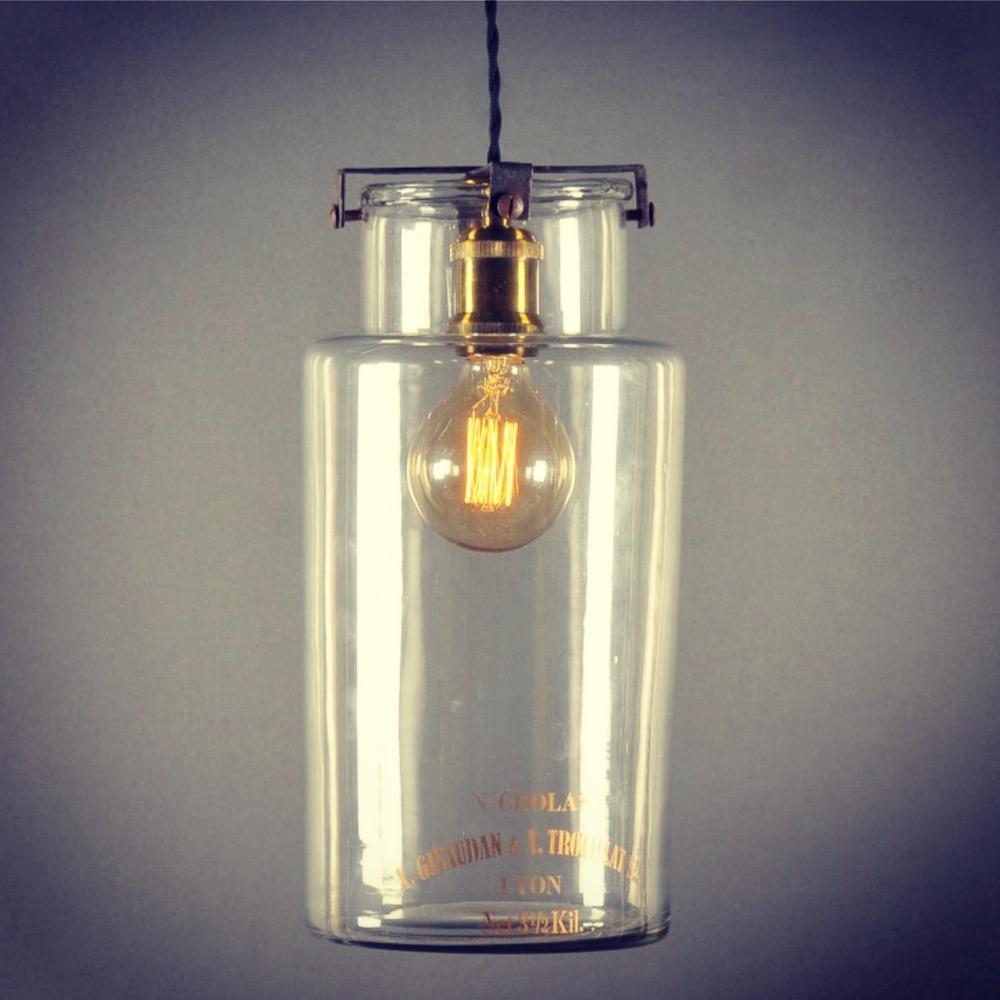 lampadario vaso da farmacia