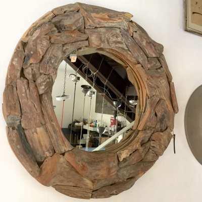 specchio tondo legni marini