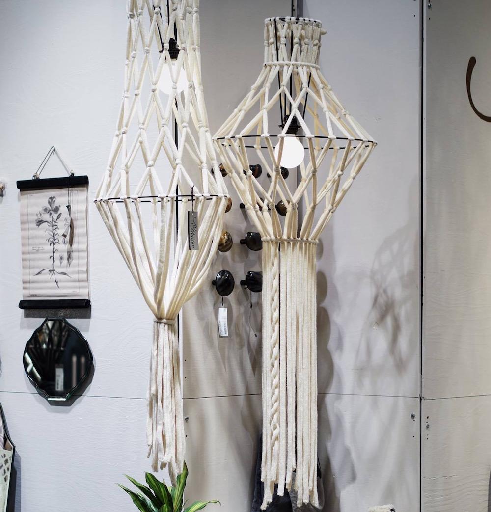 lampadario lana boho