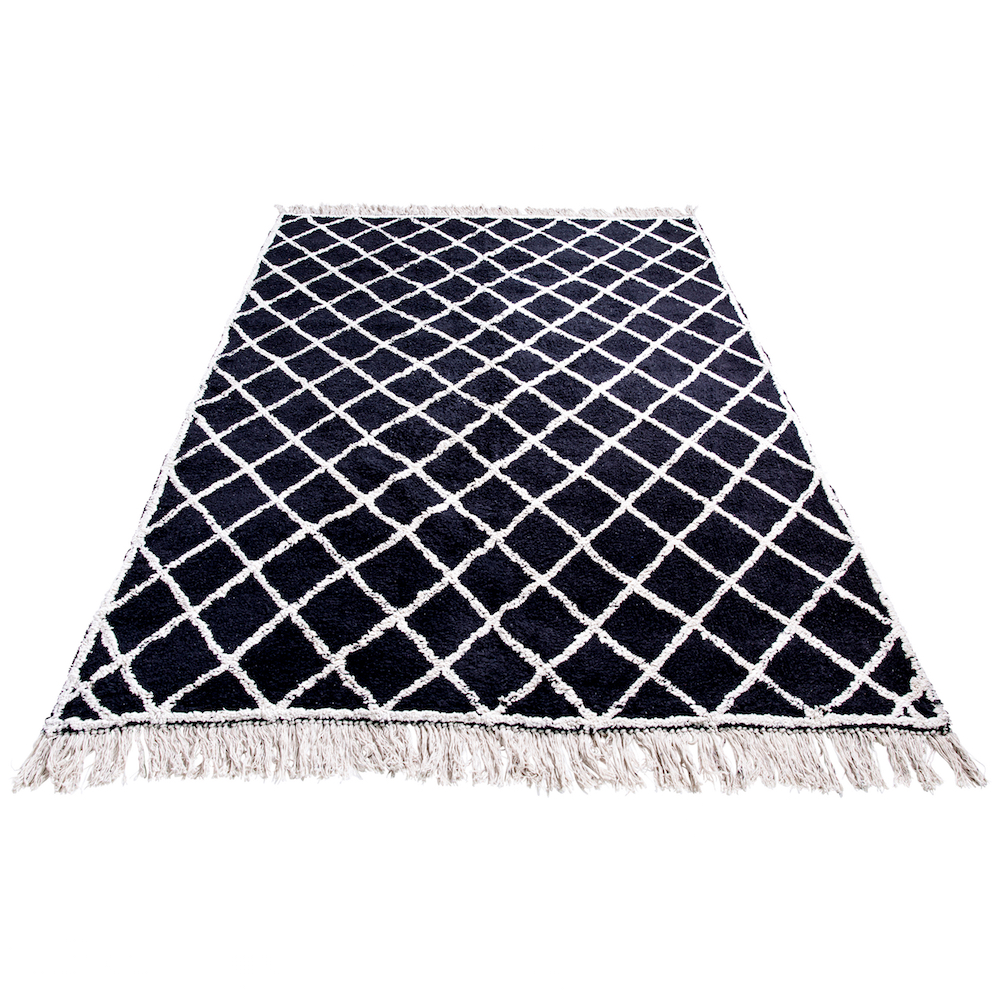 tappeto nero cotone