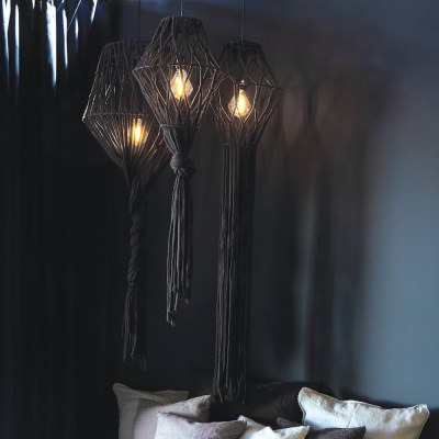 lampadario boho grigio
