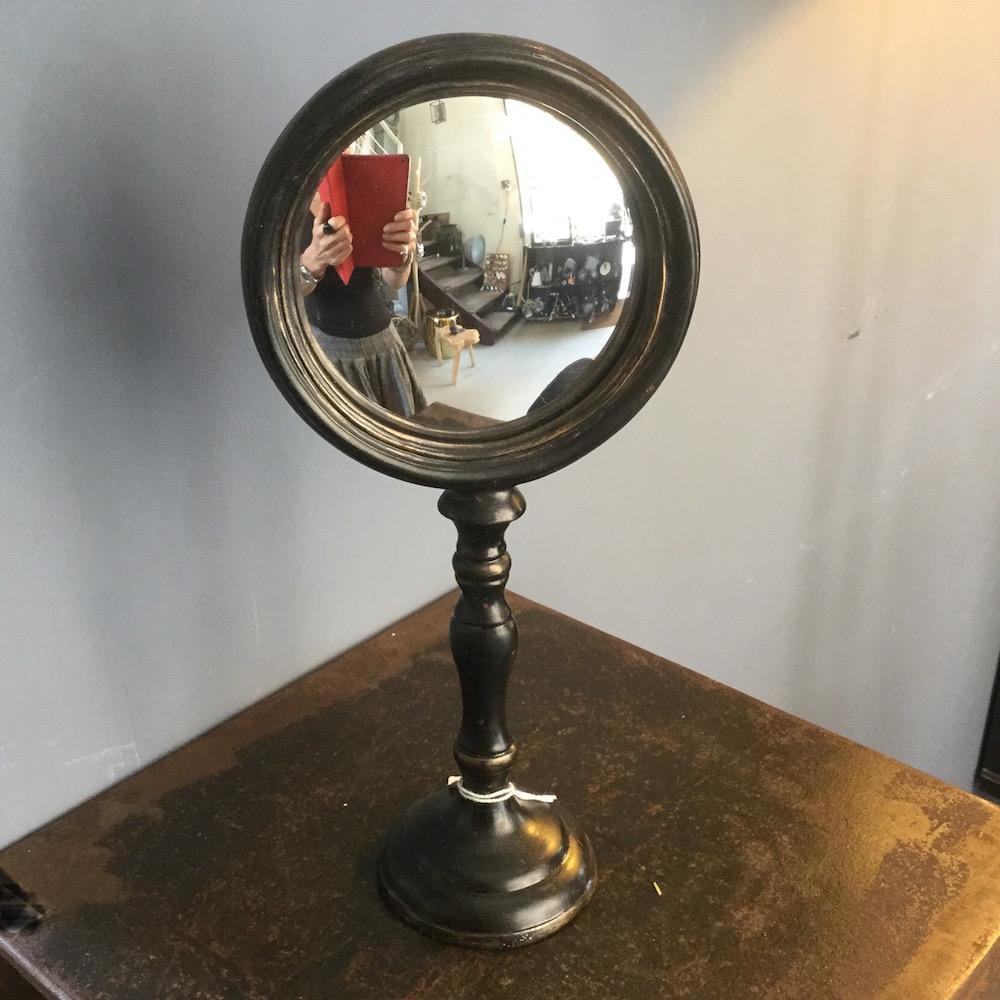 specchio convesso piedistallo alto