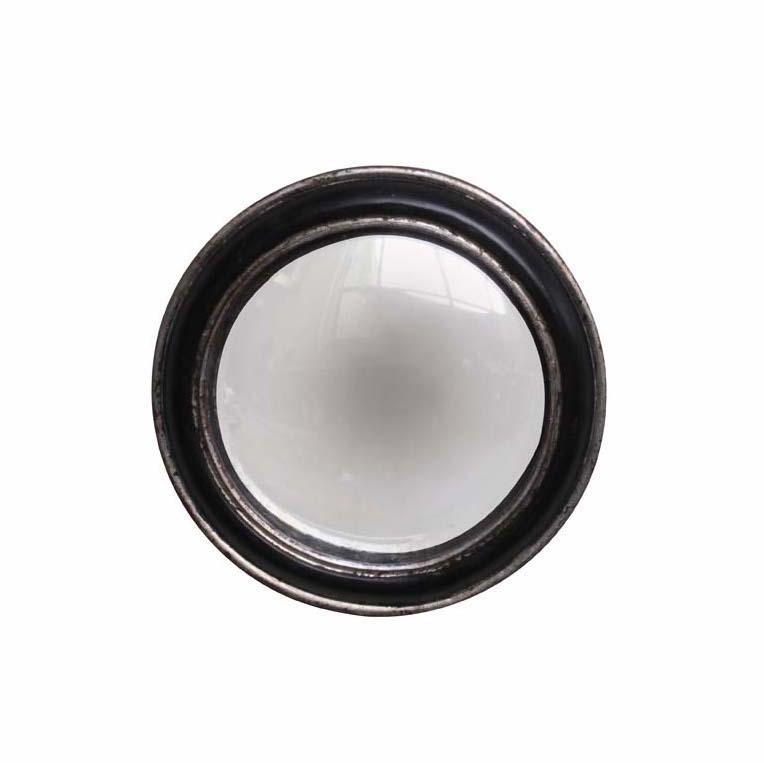 specchio convesso nero argento