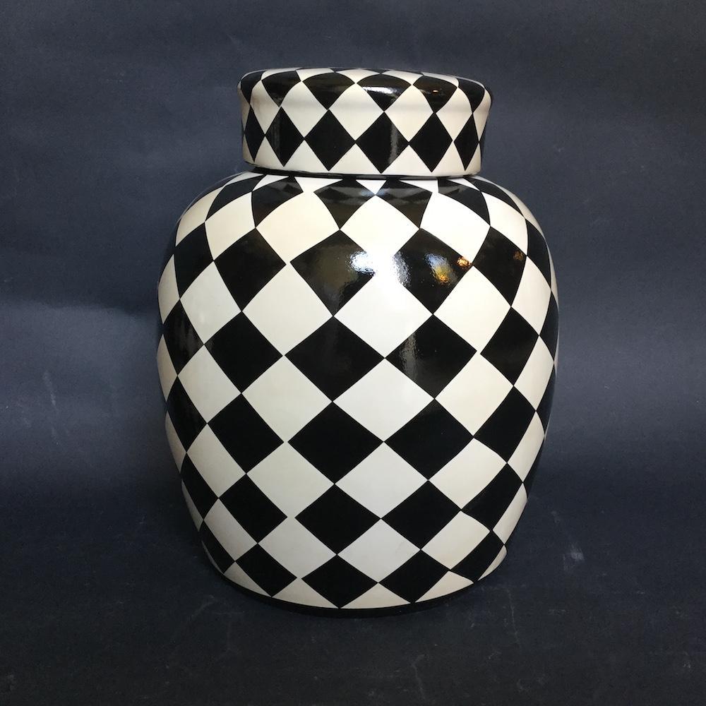vaso scacchi ceramica