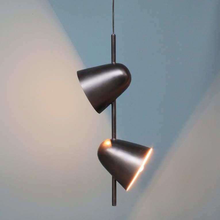 lampadario soffitto doppio metallo