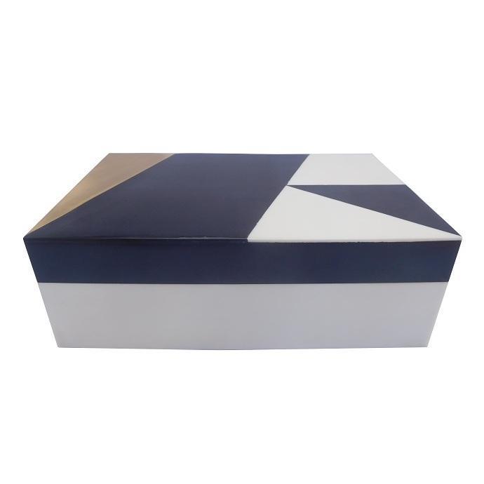 scatola bianca oro nera