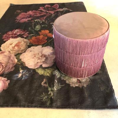 pouf rosa frange