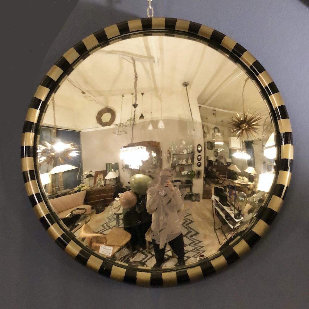 specchio convesso nero-oro