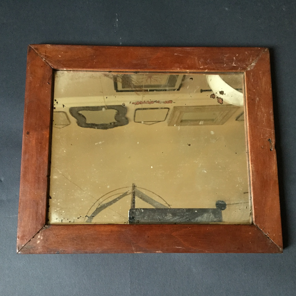 specchio vintage legno
