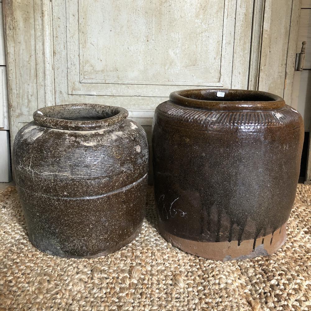 vasi vintage marroni