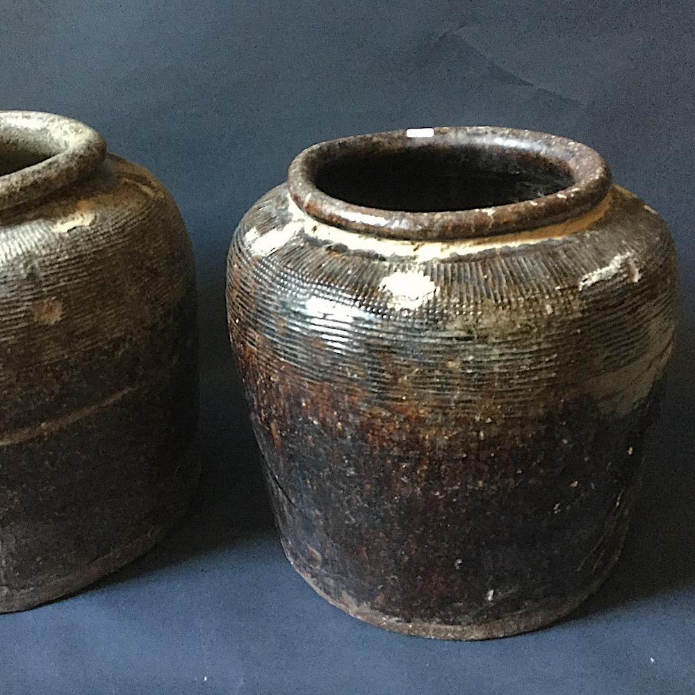 vaso vintage marrone