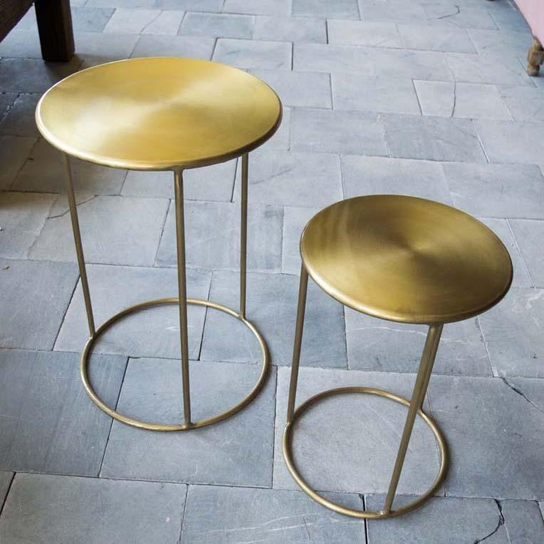 tavolino d'appoggio oro