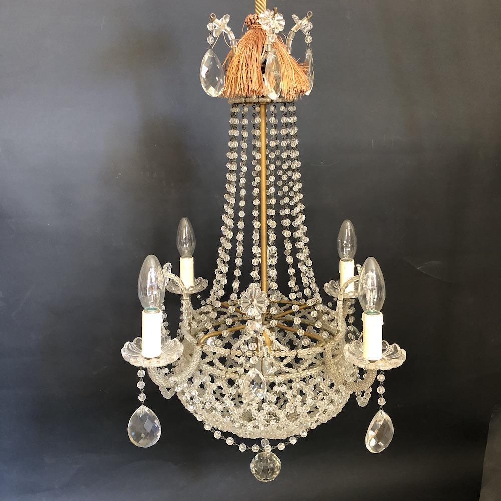 lampadario mongolfiera cristalli