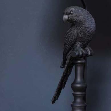 lampada tavolo pappagallo