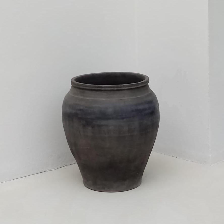 grande vaso terracotta grigia