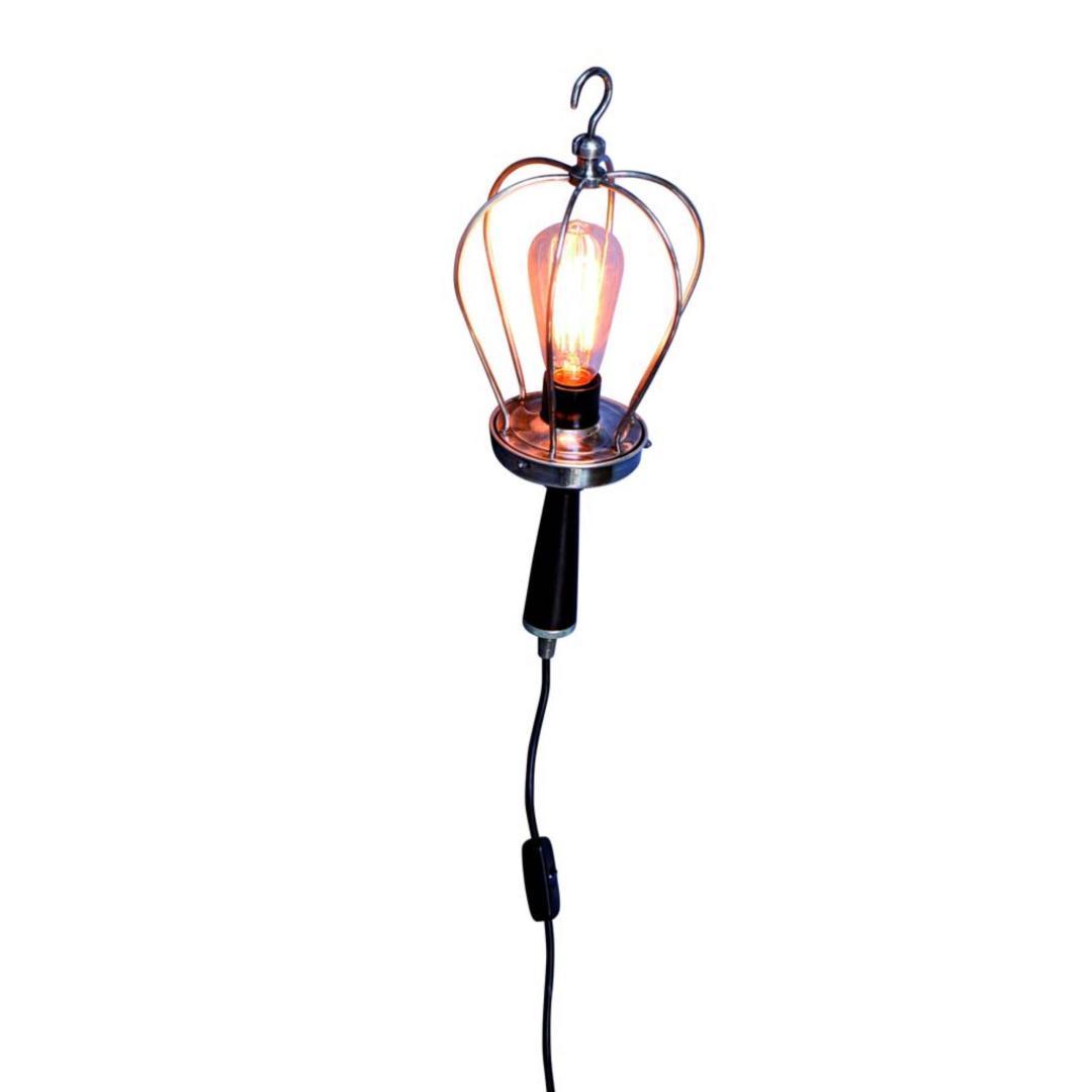 lampada portatile filo nero
