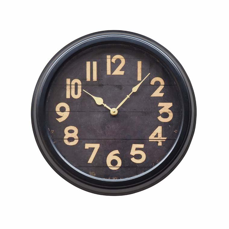 orologio nero parete