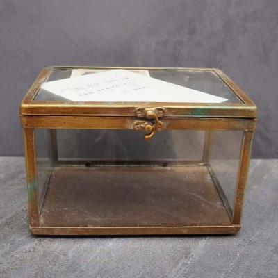 scatola ottone e vetro S