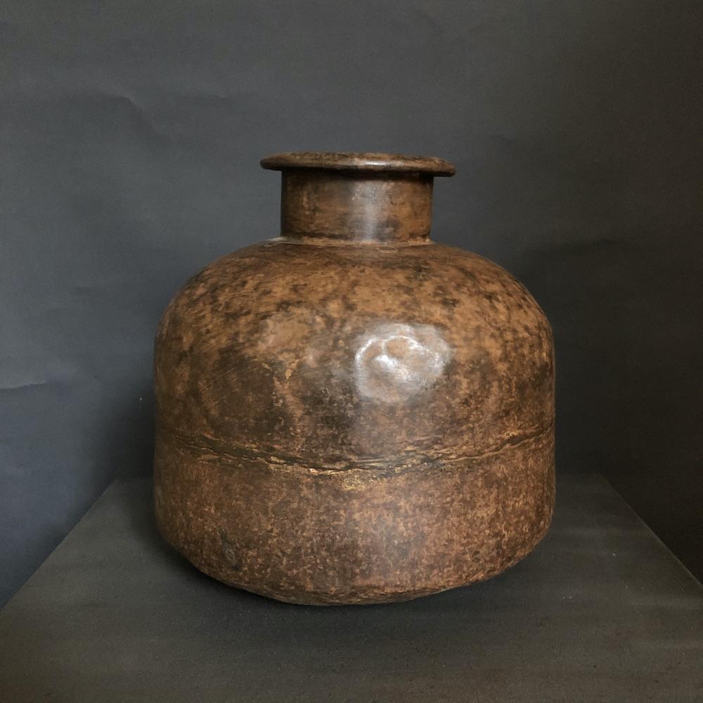 vaso vintage etnico ruggine