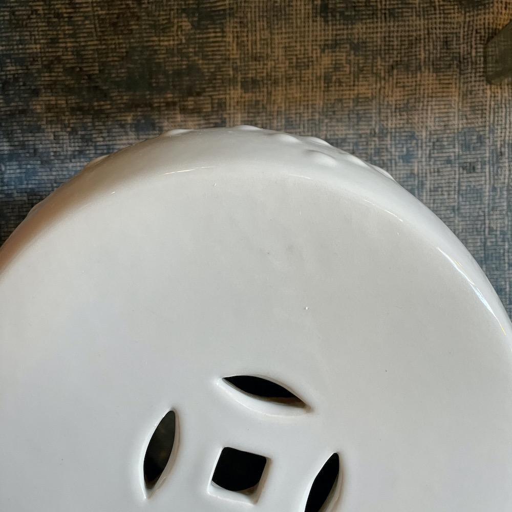 sgabello cinese porcellana bianca